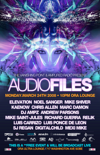 AudioFiles LIVE from Miami with Mike Shiver, Elevation, Noel Sanger, Kaenow, DJ Ampz, and many more!