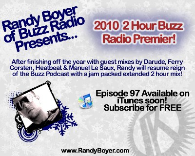 Buzz Radio 2010 Premiere - 2 Hour Set with Randy Boyer (2010-01-13)