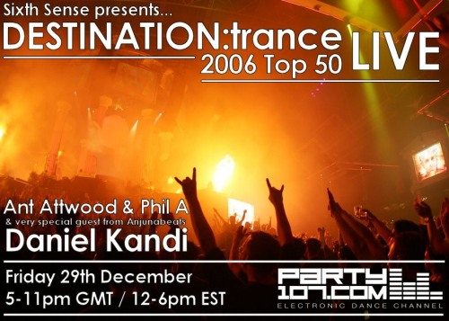 Sixth Sense presents DESTINATON:trance (12-29-06)