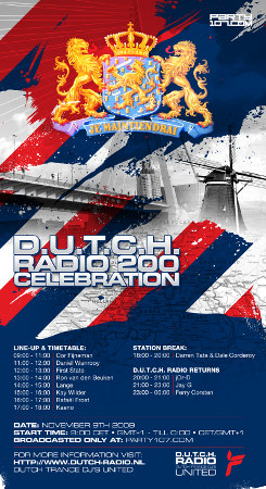 D.U.T.C.H. 200 with Jay G, Ferry Corsten, Lange, First State, Rafael Frost, and more (11-09-09)