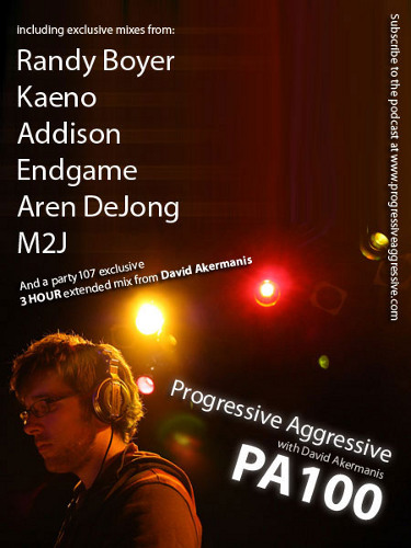 Progressive Aggressive 100 with David Akermanis, Randy Boyer, Kaeno, DJ Ampz, and more (12-14-08)