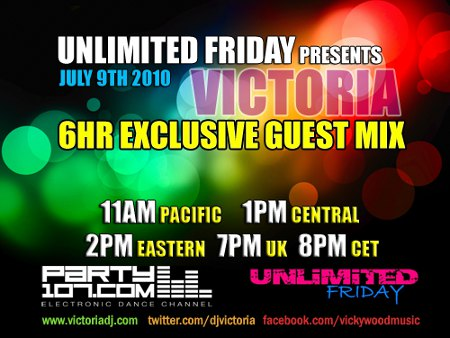 UNLiMiTED FRiDAY 295 XXL - 6 Hour Set by Victoria (2010-07-09)