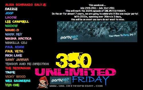 UNLiMiTED FRiDAY 350 - 35+ Hour Event (July 29-31, 2011)