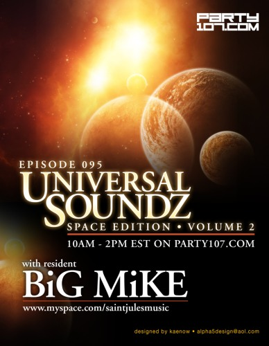 Universal Soundz 095 Four Hour Special - Space Edition (08-07-07)!