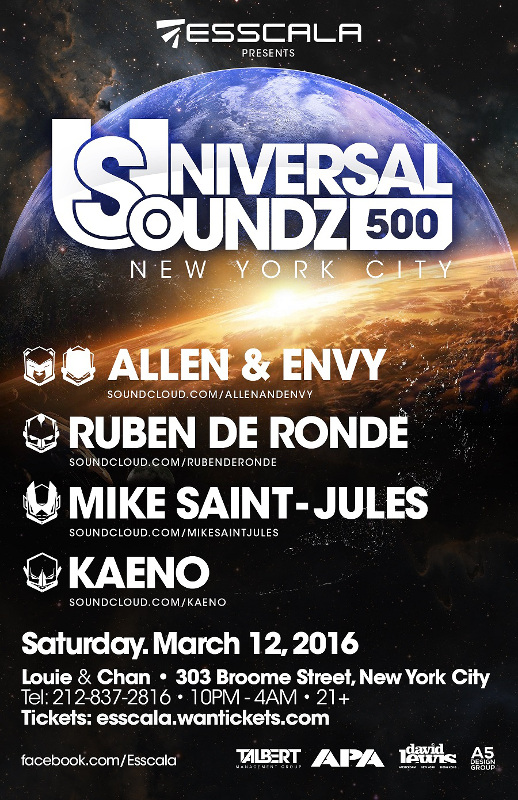 Universal Soundz 500 Tour in NYC! (2016-03-12)