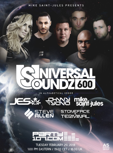 Universal Soundz 600 Celebration - 6 Hours Nonstop Sets!