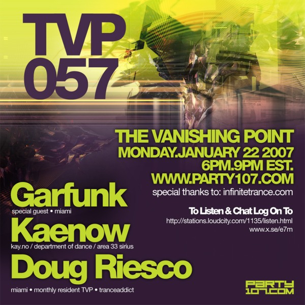The Vanishing Point 057 with DJ Kaenow, Doug Riesco, and Garfunk
