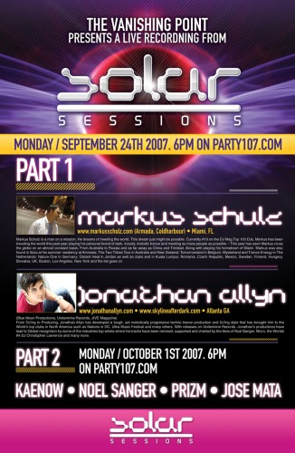 The Vanishing Point 092 Solar Sessions with Markus Schulz and Jonathan Allyn (09-24-07)
