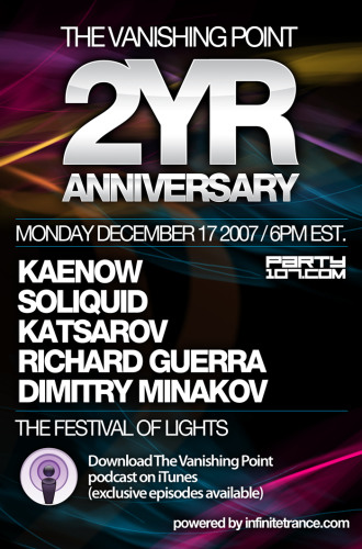 The Vanishing Point 104 - Two Year Anniversary with Kaenow, Soliquid, Katsarov, Richard Guerra, and Dmitry Minakov (12-17-07)