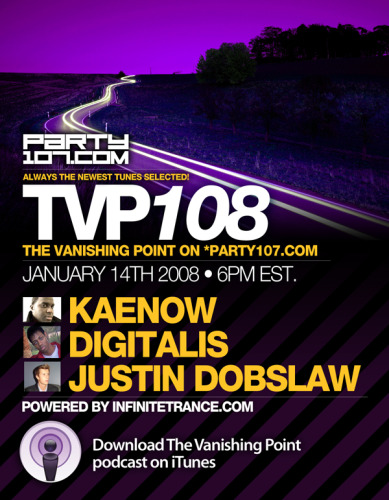 The Vanishing Point 108 with Kaenow, Digitalis, and Justin Dobslaw (01-14-08)