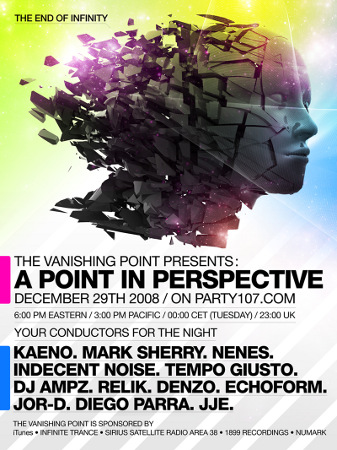 The Vanishing Point 158 - A Point in Perspective with Kaeno, Mark Sherry, Nenes, Indecent Noise, and more (12-29-08)