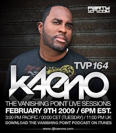 The Vanishing Point 164 with Kaeno Live from Las Vegas (02-09-09)