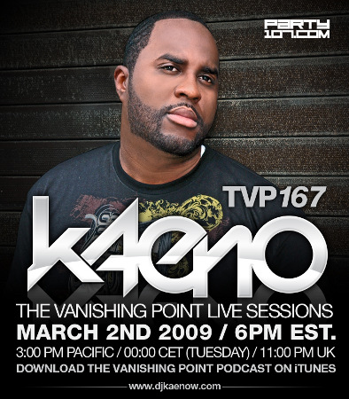 The Vanishing Point 167 Live Sessions with Kaeno (03-02-09)