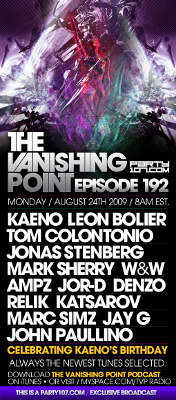 Special 12+ Hour Birthday Edition of The Vanishing Point with Kaeno, Tom Colontonio, Leon Bolier, and more (08-24-09)