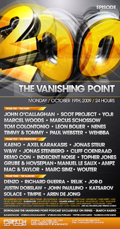 The Vanishing Point 200 - 35+ Hours of Sets Starting October 19 at 8:00 AM